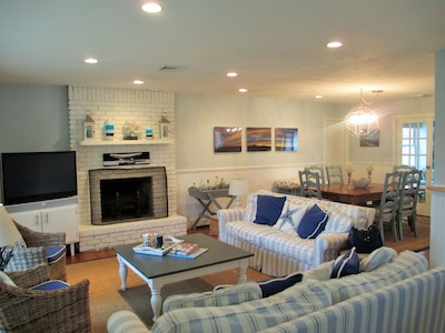 Well lit and comfortable Living Room