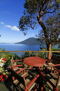 Fabulous view from the deck overlooking Salt Spring Island.