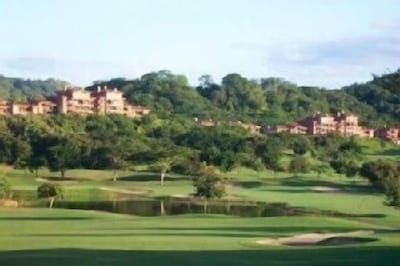 View of condos from the golf course