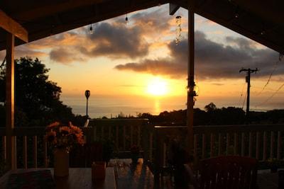 Sunset on the lanai