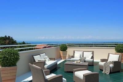 Meerblick zum Verzaubern auf 55 m2 Terrasse