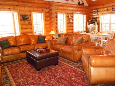 Lots of seating to relax and watch a movie or play a game or curl up with a book