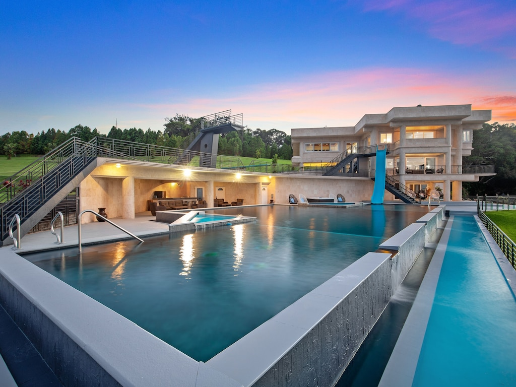 Incredible house with oversized pool and slid