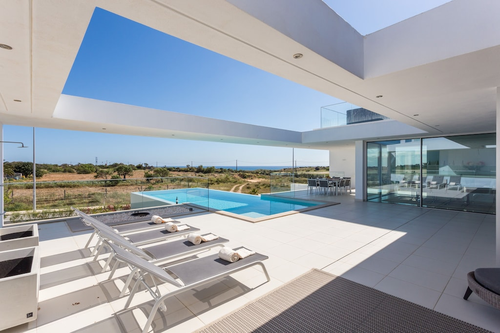 Modern villa with skylight and pool