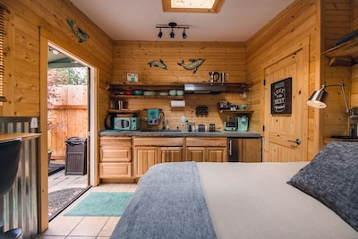 Fully stocked kitchen so you can cook your own food