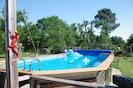 la piscine 8 mètres sur 4 mètres