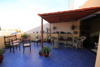 Stunning terrace with lots of room to relax and enjoy the views