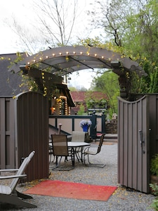 A second set of gates provides charm and privacy