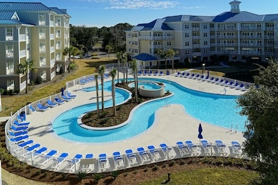 Enjoy free round 18 hole golf per day, kayaking, Lazy pool, and more.