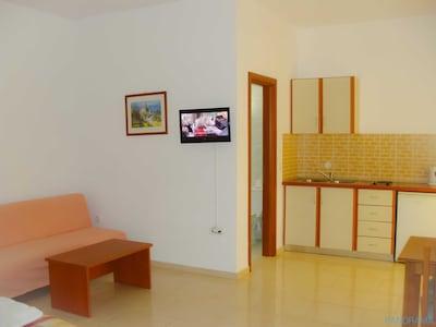 Studio with sofa