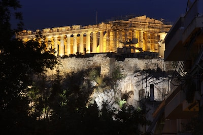Acropolis view from the living room