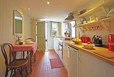 Stylish,  retro, fully fitted kitchen.