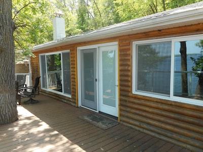 Charming log sided cabin.