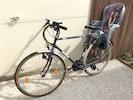 Vélo homme avec siège bébé Hamax - casque non fourni