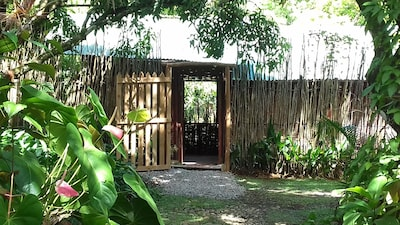 Off the grid Latille Irie Cabin located at Latille Waterfalls, St. Lucia.