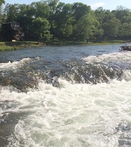 Miramichee Falls just beyond camp.