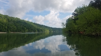 Cumberland River from the water behind the house  (not taken from the house)