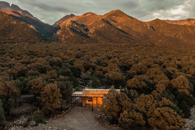 Our home at the foot of the Sangre de Cristo mountains.