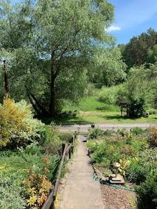 Der Vorgarten mit Ausblick Mai 2020