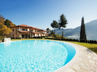 "The huge pool here at ""Tremezzo Residence"""