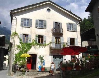 Promontogno, Bregaglia, Graubuenden, Switzerland