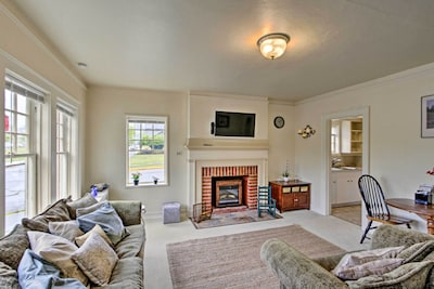 This vacation rental apartment is located in a historic building.