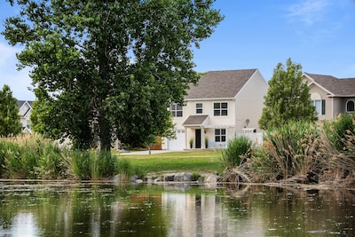 Stunning park and water views await in this quiet, beautiful home