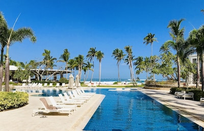 Paradise at its finest.  One of two pools on the Ritz Carlton resort.