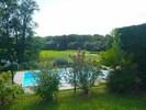 Vue jardin, piscine et golf, Blick Garten , Gplfplatz