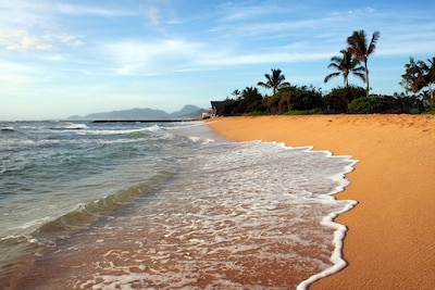 Waipouli Beach is a few steps away - enter waters at the south end & swim safely