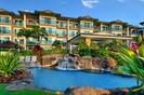 Waterfalls at the lazy river swimming pool at Waipouli Beach Resort