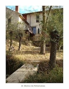 Antiguo Molino A 25 Km De Segovia Casa De Diseño Ecológica En La Naturaleza Peñarrubias De Pirón