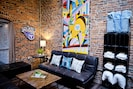 Our new group rental has TONS of space and custom artwork!