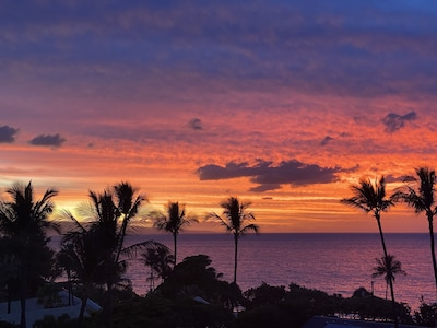 Actual Sunset view from  our lanai... shared with me by a guest