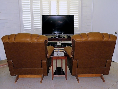 """46"""" HDTV with 260+ cable channels and a DVR."""
