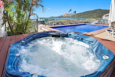 Hot Tub is amazing just near the pool, restaurant and bar.