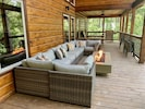 Back Porch with Fire Table