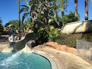 Waterslide pool area