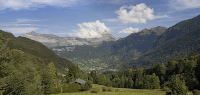 The wonderful view from the Chalet Narnia in summer.