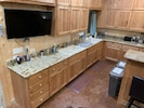 Two double sinks in kitchen