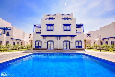 Villa facade with private pool