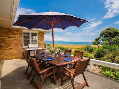 Wai Whare - Kuaotunu Absolute Beachfront Holiday Home
