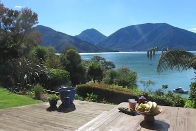Morning tea on the deck
