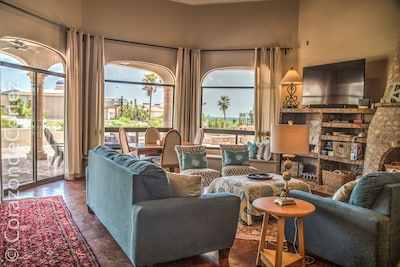 Beautiful views from the living room and both master suites