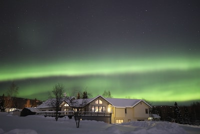 aurora view from backyard