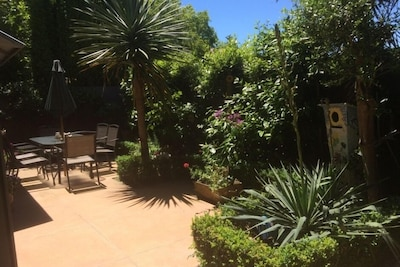 Private courtyard is yours to relax in