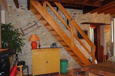 Escalier menant à la suite