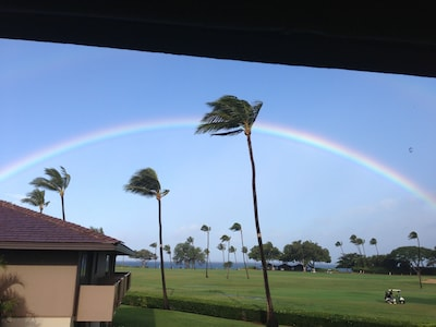 A perfect Rainbow viewed from our Lanai