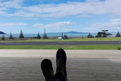Kicking back on a lazy boy looking out to sea