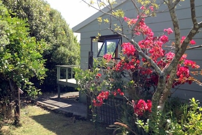 The garden captures all day sun